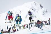 Nach drei Weltcup-Siegen in diesem Winter gehört der Innerrhoder Marc Bischofberger (links) zu den Ostschweizer Mediallenanwärtern an den Olympischen Spielen. (Bild: Keystone)