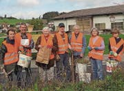 Mitglieder und Helfer des Vereins NaturPlus Fischingen bei ihrem letzten Einsatz. (Bild: PD)