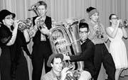Die Musiker der Brass Band sind bereit für die Unterhaltungsabende. (Bild: pd)