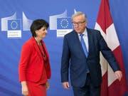 Der EU-Kommissionspräsident Jean-Claude Juncker sagte zum Verhältnis mit der Schweiz: Seit seinem Amtsantritt habe er achtmal mit den Schweizer Bundespräsidenten gesprochen. Der institutionelle Rahmenvertrag sei mehrmals zur Sprache gekommen, aber bisher nicht zustande gekommen. (Bild: KEYSTONE/EPA/OLIVIER HOSLET)