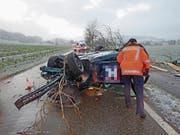 Verpixelte Autotüre: Etzwilen, 17. Januar 2018. (Bild: Kapo TG)