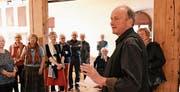 Werner Meier, ein Weggefährte von Bruno Hufenus, gibt Einblick in dessen Leben und Wirken. (Bild: PF)