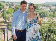 Daniel Hubmann hat seine Annette geheiratet. Sie erwarten im September ihr erstes gemeinsames Kind. (Bild: pd)