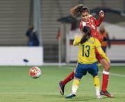Trotz viel Einsatz verpassten Cinzia Zehnder und die anderen Schweizerinnen die Olympiaqualifikation. (Bild: ky/Salvatore Di Nolfi)