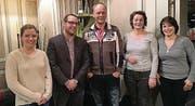 Andrea Stillhart, Aktuarin, Christian Hildebrand, neugewählter Präsident, Hans Zürcher, Vizepräsident, Dorothea Ziehler, Beisitzerin, und Rahel Tobler, Kassierin (von links). (Bild: pd)