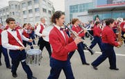 Parade am Nachmittag. Die Musikgesellschaft Müllheim brachte Stimmung unters Volk. (Bild: Nana do Carmo)