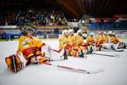 Heute Abend spielen die Bieler um Goalie Jonas Hiller gegen den HC Lugano. (Bild: GIAN EHRENZELLER (KEYSTONE))