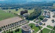 Die Visualisierung zeigt die Dimensionen der ersten Etappe des Rechenzentrums Campus an der Militärstrasse. (Bild: PD/Armasuisse)