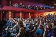Zuschauer am Kurzfilmwettbewerb im St. Galler Kino Palace. (Bild: pd)
