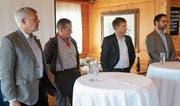 Heinz Nigg, Walter Zellweger, Josef Schmid und Ueli Nef befassten sich mit den unterschiedlichen Interessen im Appenzellerland. (Bild: MBR)