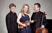 Höhepunkt im Programm des Hänkiturm Classics: das Swiss Piano Trio mit Martin Lucas Staub, Angela Golubeva und Sasha Neustroev. (Bild: PD)