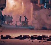 Eine Gruppe Demonstranten im tunesischen Ettadhamoun unweit der Hauptstadt Tunis. (Bild: EPA (11. Januar 2018))