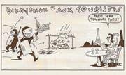 «Willkommen Touristen – Paris wird immer Paris bleiben»: Eine Karikatur in der neuesten Ausgabe des Satiremagazins. (Bild: Zeichnung: «Charlie Hebdo»)
