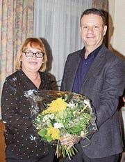 Doris Vogel, neue Präsidentin der CVP Wängi, und ihr Vorgänger Franco Heim. (Bild: PD)