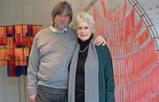 Mäddel und Marisa Fuchs aus Gais haben eine gemeinsame Ausstellung gestaltet. (Bild: Theodor Looser)