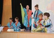 Die Primarschulkinder studierten verschiedene Lieder und instrumentale Stücke ein. (Bild: pd)