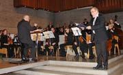 Alfred Kesseli (rechts) überzeugte als Bass-Solist einmal mehr mit seinem gewaltigen Stimmvolumen. (Bild: Hans Hidber)