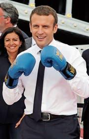 Der französische Präsident Emmanuel Macron. (Bild: Jean-Paul Pelissier/EPA (Paris, 24 Juni 2017))