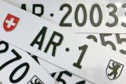 Für einstellige Autonummern verlangt Appenzell Ausserrhoden bei Versteigerungen zurzeit einen Startpreis von 20 000 Franken. (Bild: pd)