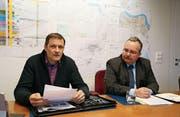Zufrieden mit der Gemeindeentwicklung: Roland Brändli (links) und Rolf Vorburger. (Bild: Jolanda Riedener)