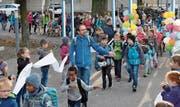 Gemeinsam geht es für die Primarklassen des Gringel zum Hofwies. (Bild: PD)