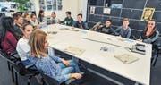 Sechste Klasse zu Besuch auf der Redaktion (Bild: Olaf Kühne)