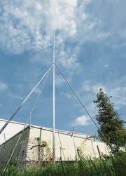 Die Mobilfunkantenne soll 22 Meter hoch werden. (Bild: Mario Testa)