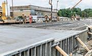 Streckenunterbruch in Rastatt: Die Bauarbeiten dauern wohl noch bis Anfang Oktober. (Bild: Benedikt Spether/DPA (Rastatt, 7. September 2017))