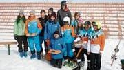 Das Siegerpodest der Vereinswertung, die vom Skiclub Grabserberg gewonnen wurde. (Bilder: PD)