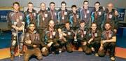 Versöhnlicher Saisonabschluss mit drittem Schlussrang: Das Bronze-Team RC Oberriet-Grabs. (Bild: PD)