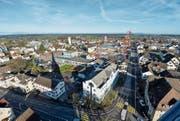 Amriswil vom Kirchturm aus gesehen: In den nächsten Jahrzehnten dürfte sich das Gesicht der Stadt markant verändern. (Bild: Donato Caspari)