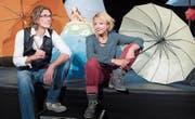 Stephan Zbinden und Frauke Jacobi in den Kulissen ihrer «Cinderella»-Produktion. (Bild: Ralph Ribi (St. Gallen, 18. Oktober 2017))