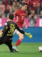 Robert Lewandowski hat in dieser Saison für Bayern München bereits 38 Tore erzielt. (Bild: Sven Hoppe/AP)