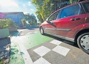 Dieser Strassenabschnitt wird für den Durchgangsverkehr gesperrt. (Bild: Donato Caspari)