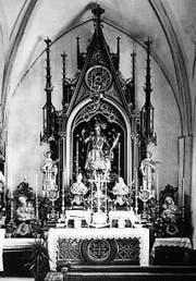 Der Pancratiusaltar in der Stadtkirche St. Nikolaus im Jahr 1932. (Bilder: Stadtarchiv Wil)