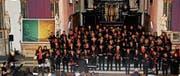 Der Corale Santa Cecilia sang zur Feier des 60-jährigen Bestehens in der Kolumbanskirche Rorschach. (Bild: Daniela Huber-Mühleis)