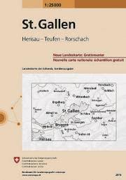 Titelblatt der Sonderkarte für die Region St. Gallen. (Bild: PD)