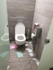 Das WC, an dem die Frau Anstoss nahm. (Bild: pd)
