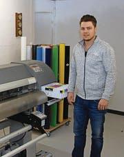 Mario Eberle hat die Primo Print GmbH 2011 gegründet. (Bild: Ruben Schönenberger)