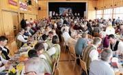 Die Veranstaltung mit den Bischofszeller Böhmischen ist gut besucht. (Bild: Trudi Krieg)