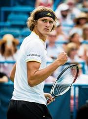 Alexander Zverev, erfolgreicher Vertreter der neuen Generation im Tennis. (Bild: Pete Malkovic/EPA)