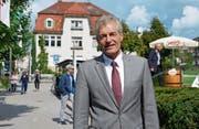 Heinz Karrer am Rande der Gossauer Gewerbeschau, «einer genialen Veranstaltung», wie er gestern sagte. (Bild: Nina Rudnicki)