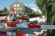Bei der Sanierung der Nordstrasse in Amriswil entstehen zusätzlich verkehrsberuhigende Elemente. (Bild: Gioia Zogg)