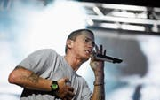 Marshall Mathers aka Eminem rappte schon vor acht Jahren auf der Bühne der Grossen Allmend. (Bild: Stefan Schaufelberger (9. Juli 2010))