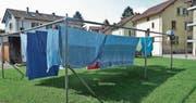 Wäsche im Innenhof: So präsentiert sich die Arbeitersiedlung heute. (Bild: Max Eichenberger)