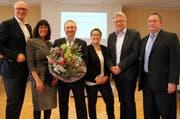 Der Kreuzlinger Stadtrat von 2015: Stadtschreiber Thomas Niederberger (rechts) möchte nun Stadtpräsident Andreas Netzle (links) beerben. (Bild: PD)