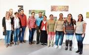 Nicole Tolle (links) mit den Kunstschaffenden aus Costa Rica.