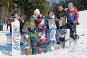 Die sechs Kinder, die beim zweiten Drehtag mit dabei waren, in einer Pause. (Bild: Corinne Hanselmann)