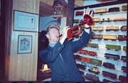 Stammgast in Montreux: David Bowie mit der Trompete von Miles Davis. (Bild: Claude Nobs Archives)