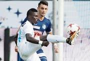 Moussa Konés erstes Super-League-Tor verhinderte eine Zürcher Niederlage in Luzern. (Bild: Urs Flüeler/KEY)